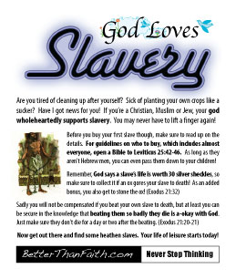 God Loves Slavery