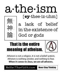 Atheism Tract - Side 1
